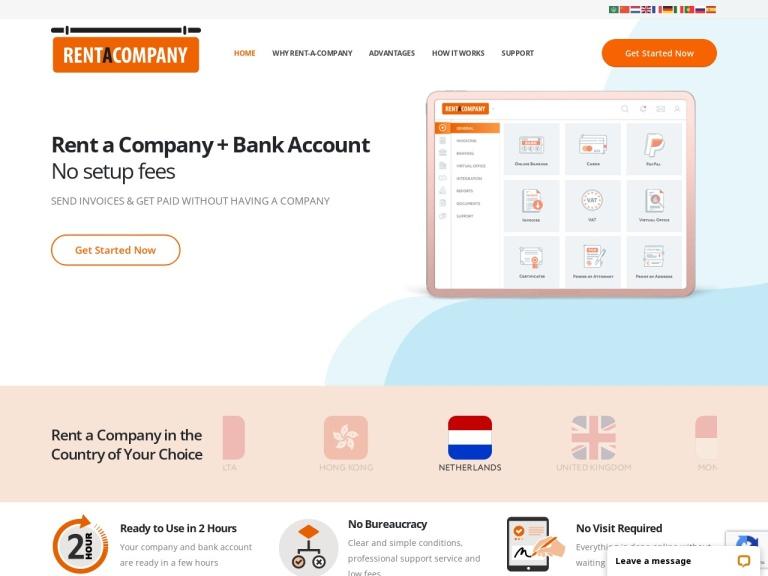 Rent A Company screenshot