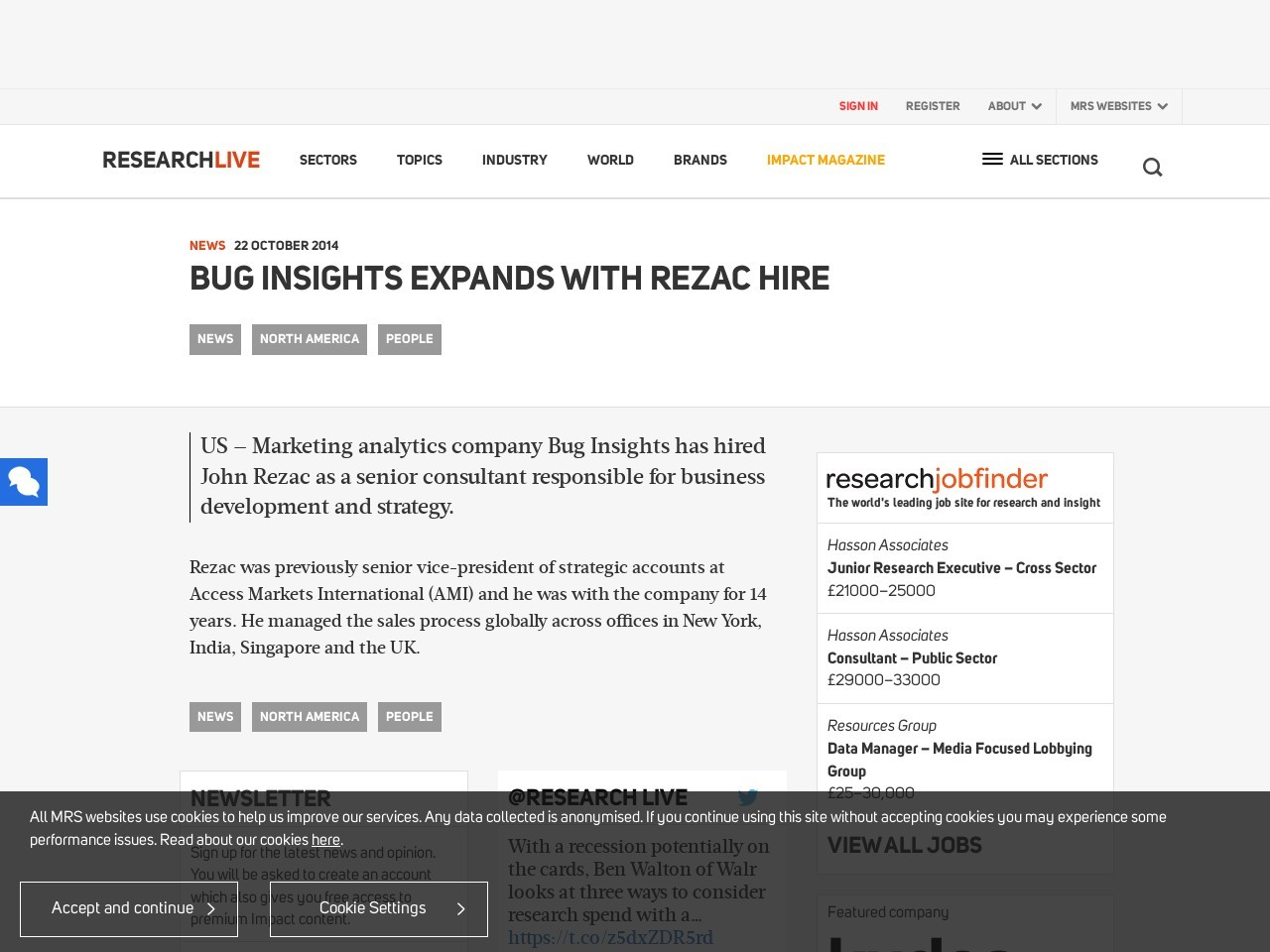 Bug Insights expands with Rezac hire