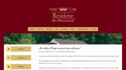 www.residenz-bad-bertrich.de Vorschau, Hotel - Cafe Residenz
