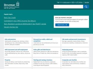 Screenshot for revenue.ie