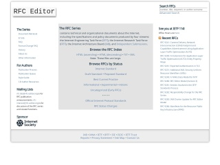 screenshot rfc-editor.org