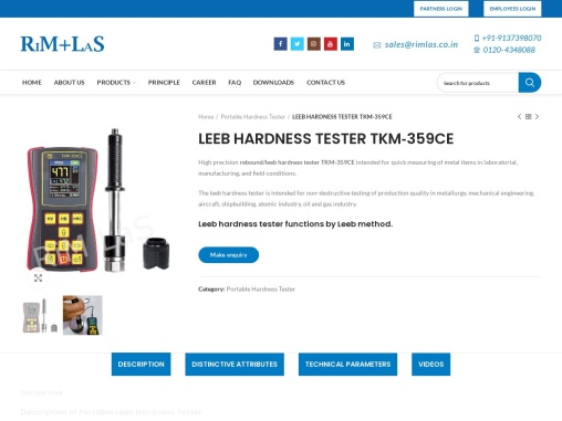 Hand Held Leeb Hardness Tester Supplier in India