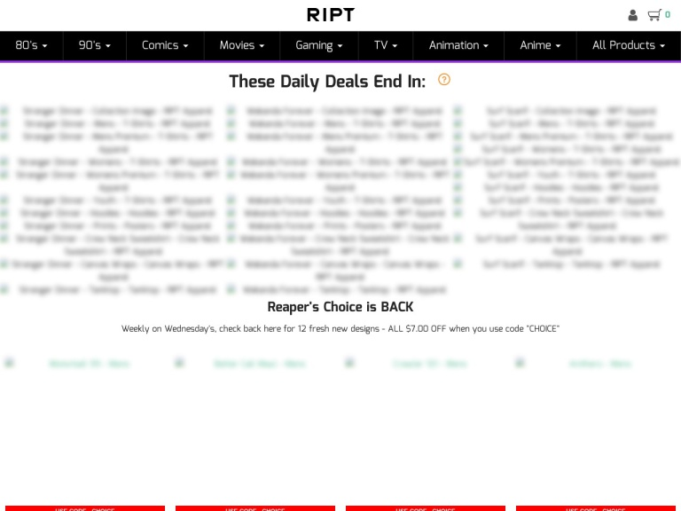 RIPT Apparel screenshot