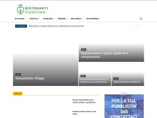 screenshot ristorantifiumicino.com