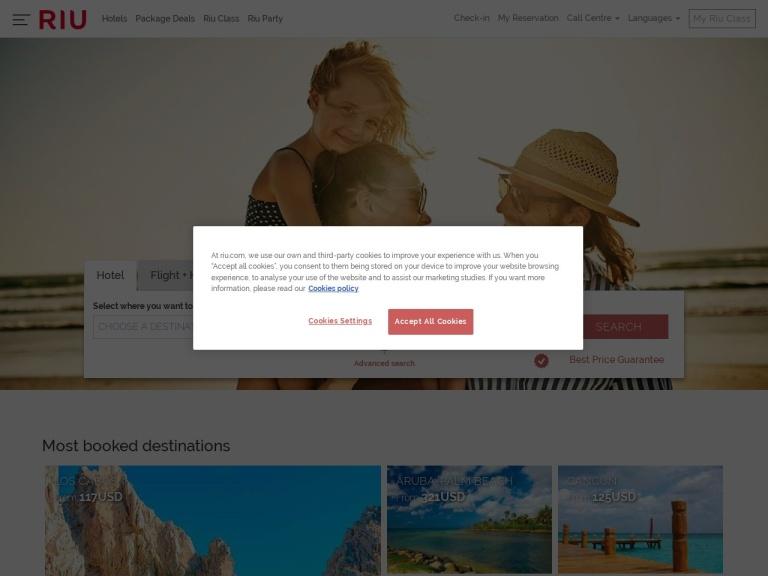Riu Hotels screenshot