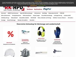 Screenshot der Website rk-hpd.at