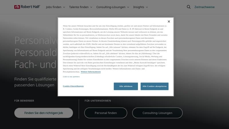 www.roberthalf.de Vorschau, Robert Half Deutschland GmbH & Co. KG