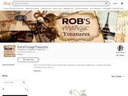 Robsvintagetreasures Etsy coupon codes August 2019