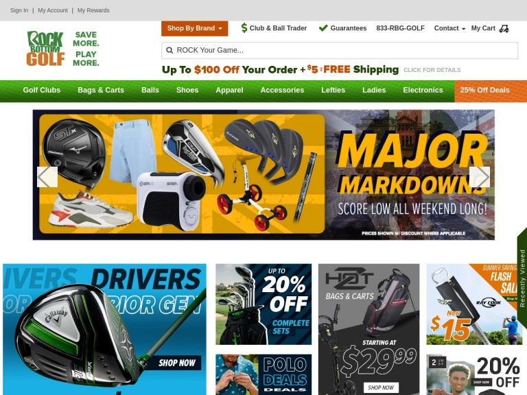 Rock Bottom Golf screenshot