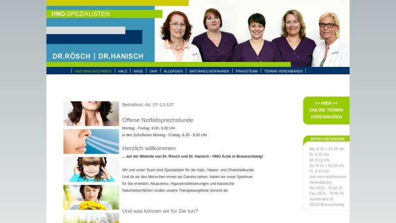 www.roesch-hanisch.de Vorschau, HNO Arzt Praxis Braunschweig - Dr. med. Rösch & Hanisch