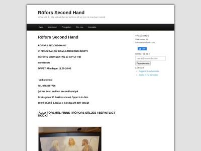 www.roforssecondhand.n.nu