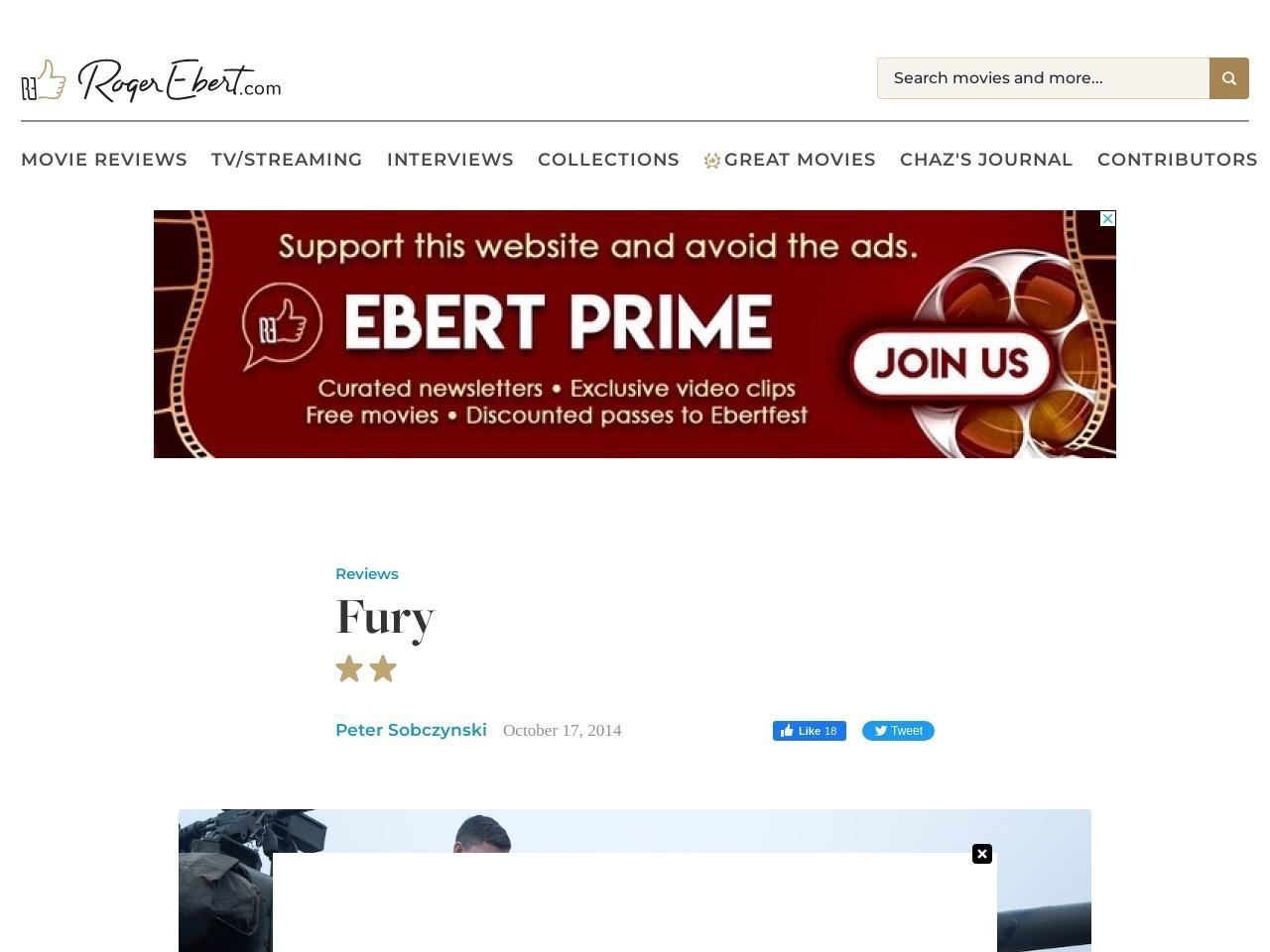 Fury Movie Review & Film Summary (2014)   Roger Ebert