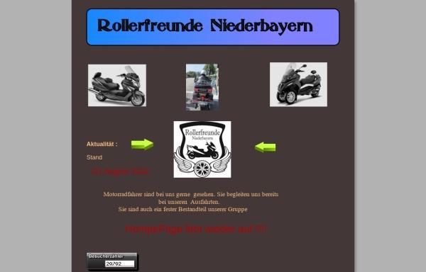 Vorschau von www.rollerfreunde-niederbayern.de, Rollerfreunde Niederbayern
