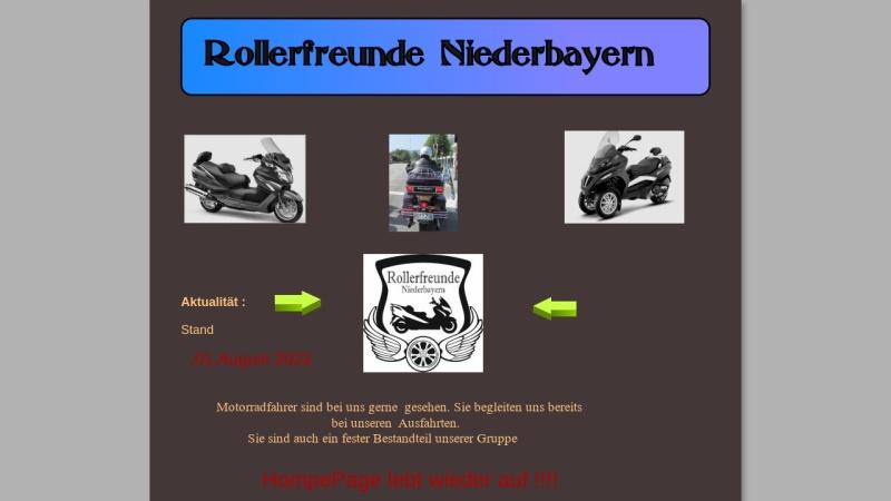 www.rollerfreunde-niederbayern.de Vorschau, Rollerfreunde Niederbayern