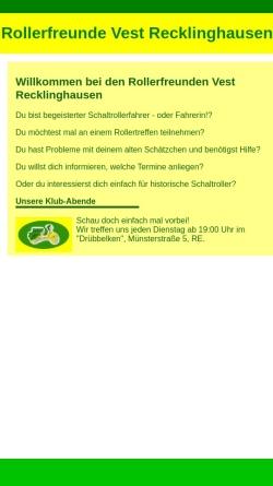 Vorschau der mobilen Webseite www.rollerfreunde-vest.durchgraf.info, Rollerfreunde Vest Recklinghausen