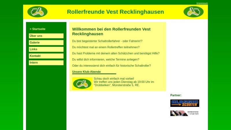 www.rollerfreunde-vest.durchgraf.info Vorschau, Rollerfreunde Vest Recklinghausen