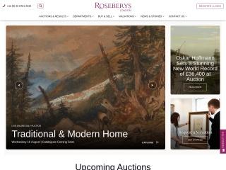 Screenshot for roseberys.co.uk