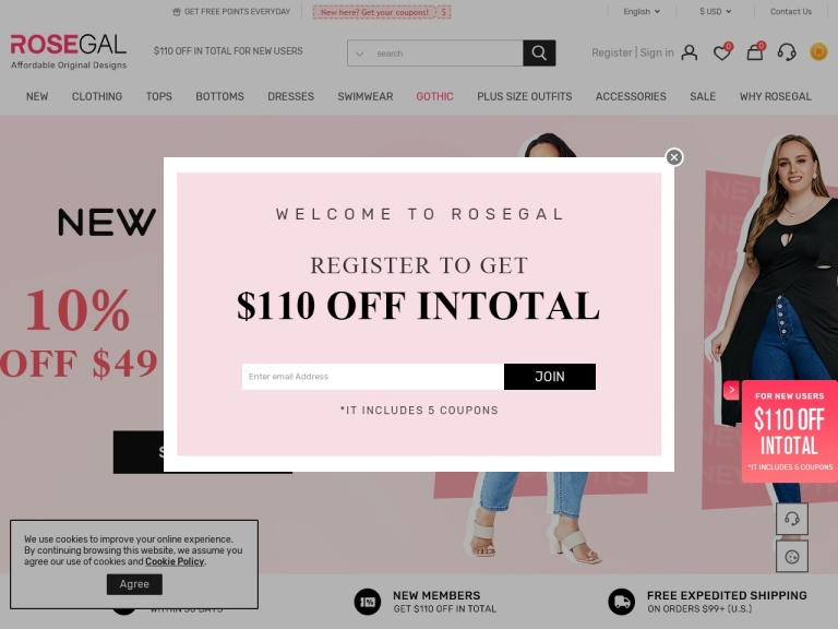 Rosegal screenshot