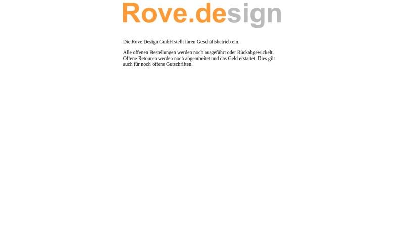 www.rove.de Vorschau, Rove.design GmbH