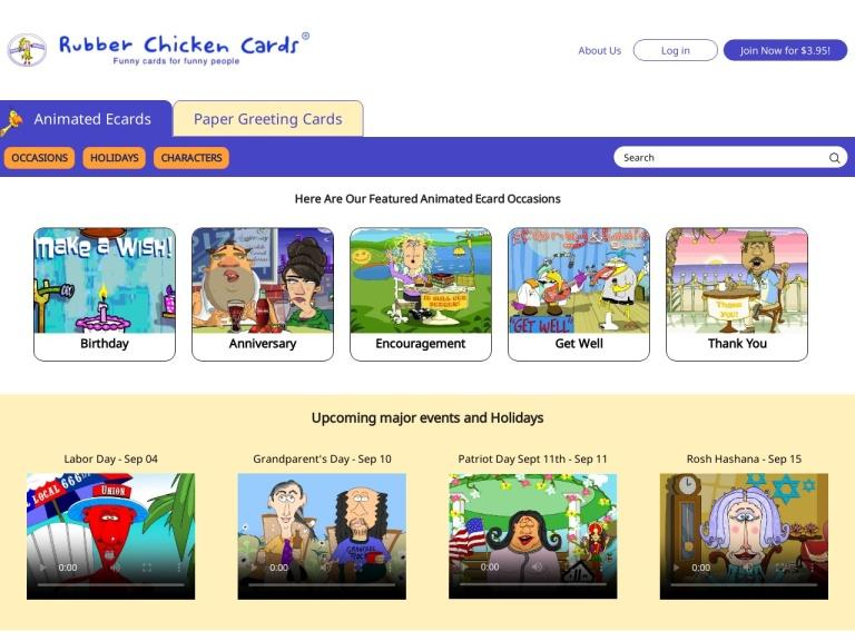 Rubber Chicken Cards screenshot
