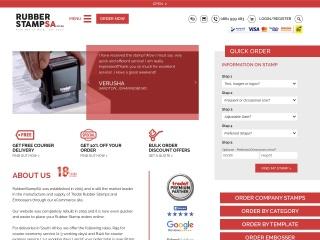 Screenshot for rubberstampsa.co.za