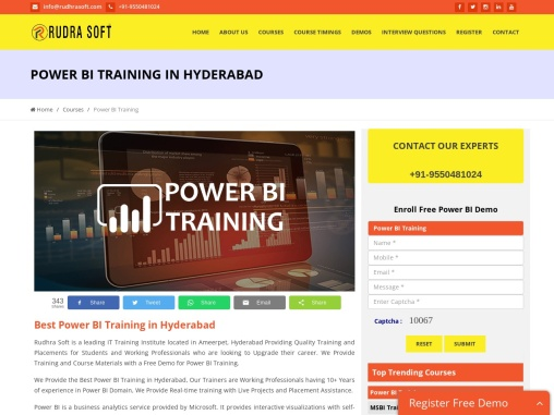Rudrasoft is providing Microsoft Power BI designed by Experienced Professionals in Microsoft
