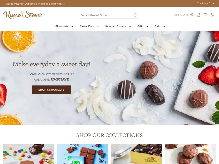 Russell Stover Candies screenshot