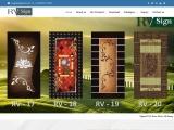 Digital Door Paper Print  – RV Sign