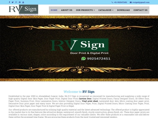 Laminated Door Paper Supplier – RV Sign