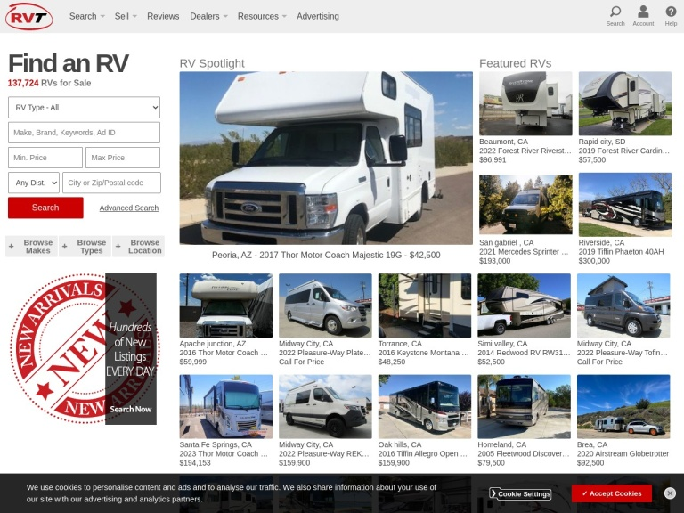Rvt.com screenshot