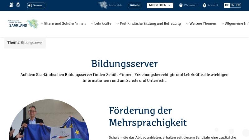 www.saarland.de Vorschau, Bildungsserver Saarland