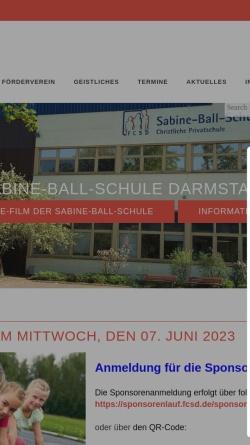 Vorschau der mobilen Webseite www.sabine-ball-schule.de, Sabine Ball Schule