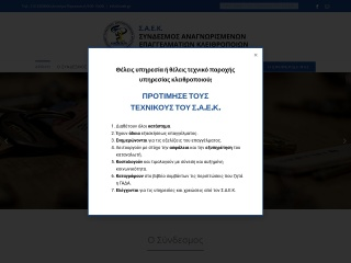 Screenshot για την ιστοσελίδα saek.gr