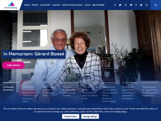 Screenshot al site-ului sailing.org