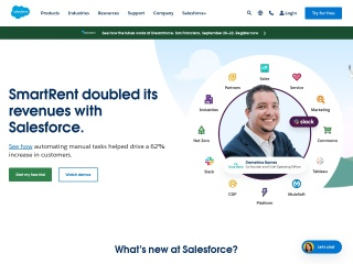 Captura de pantalla para salesforce.com