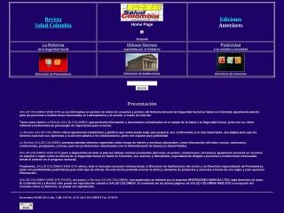 Captura de pantalla para saludcolombia.com