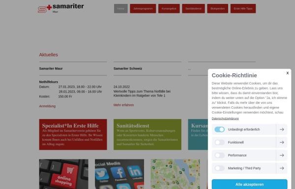 Vorschau von www.samariterverein-maur.ch, Samariterverein Maur