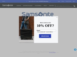 Samsonite screenshot