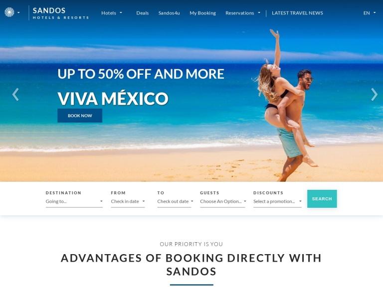 Sandos Hotels screenshot