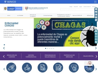 Captura de pantalla para sanidadfuerzasmilitares.mil.co