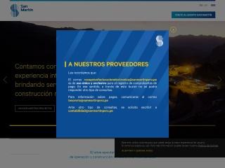 Captura de pantalla para sanmartinperu.pe