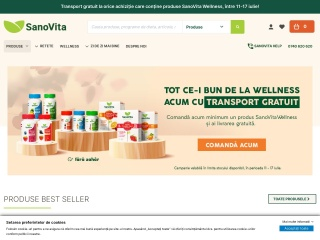 Screenshot al site-ului sanovita.ro