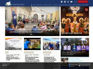 screenshot santegidio.org