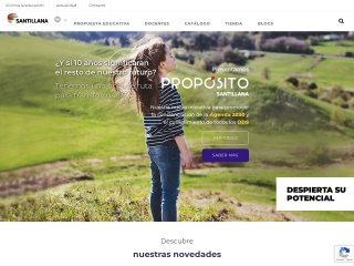 Captura de pantalla para santillana.com.ec