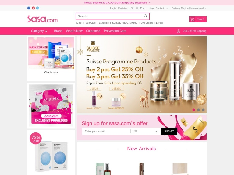Sasa.com - The Ultimate Online Beauty & Health Shop screenshot