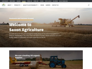 Screenshot for saxon-agriculture.co.uk
