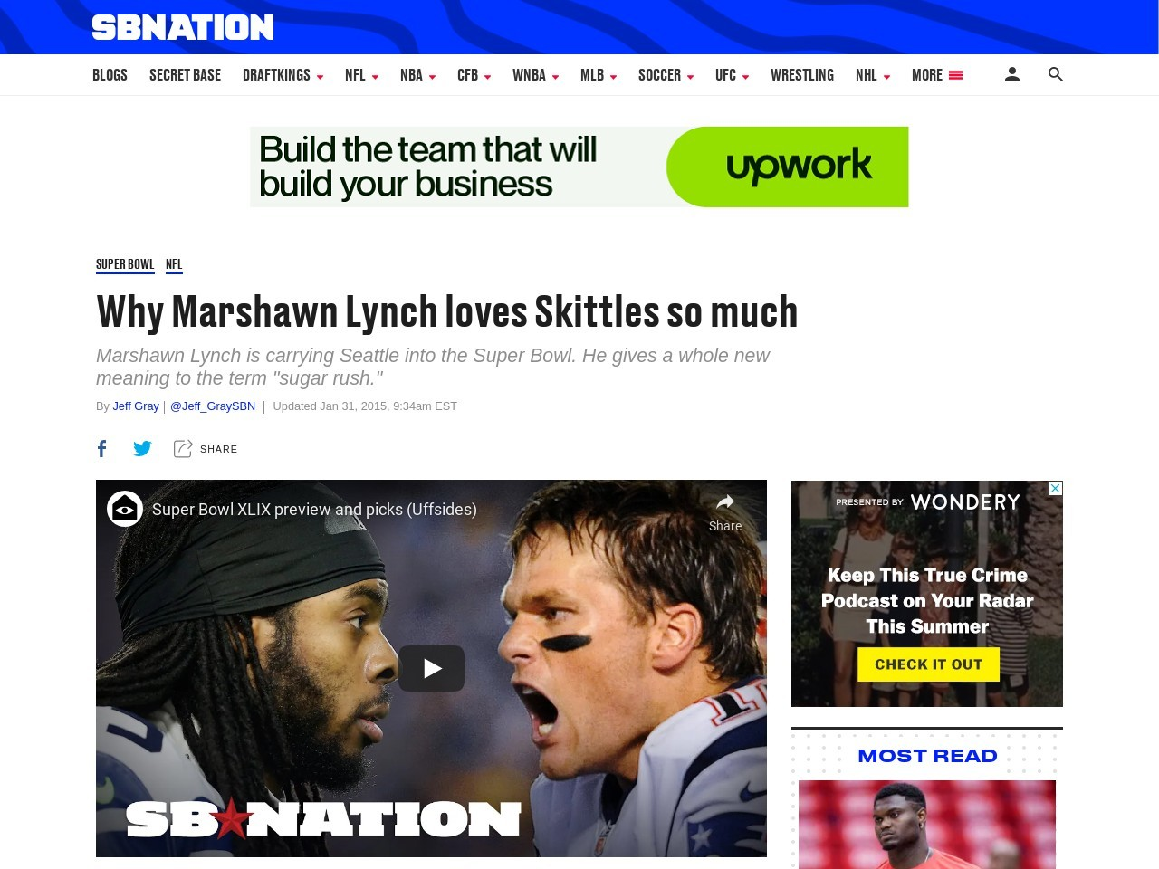 Why Marshawn Lynch loves Skittles so much