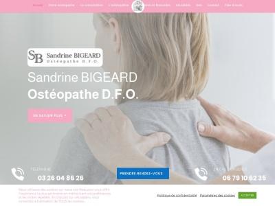 Sandrine Bigeard : Ostéopathe à Reims