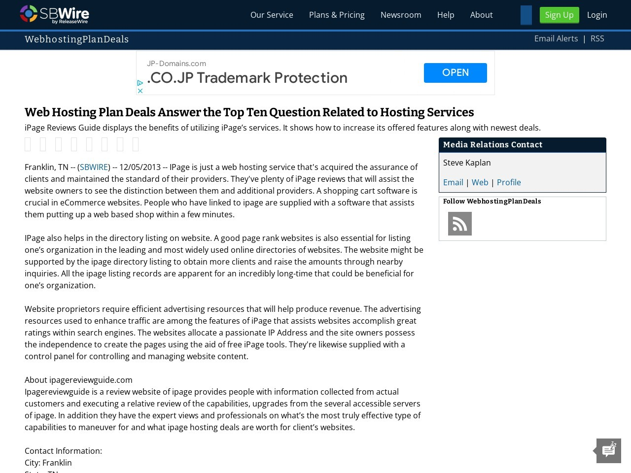 Web Hosting Plan Deals Answer the Top Ten Question Related to Hosting …