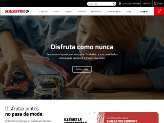 Captura de pantalla para scalextric.es